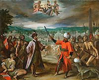 Allegory on the declaration of war before Constantinople, 1604, aachen