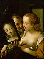 Couple with a mirror, 1596, aachen
