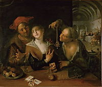 Matchmaking scene, 1610, aachen