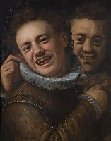 Two laughing men (double self-portrait), 1574, aachen