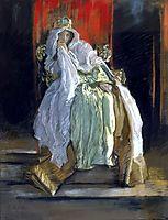 La reine dans Hamlet, 1895, abbey