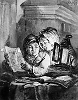 Boy and girl looking at drawings, abrahamvanstrij