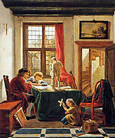 The drawing lesson, abrahamvanstrij