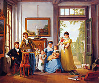 Hendrik Weymans and his family, abrahamvanstrij