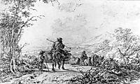 Herdsmen in landscape, abrahamvanstrij