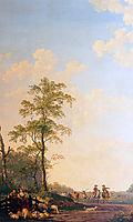 Landscape with horsemen, abrahamvanstrij