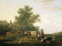 Milking Time , c.1810, abrahamvanstrij