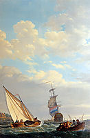 Sailing of the Dordrecht, abrahamvanstrij
