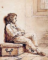 Sitting boy, abrahamvanstrij