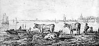 View on Dordrecht, abrahamvanstrij