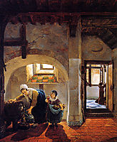 Woman and child in basement , abrahamvanstrij