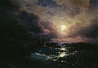 After the storm. Moonrise, 1894, aivazovsky