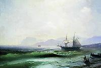 Agitated sea, 1877, aivazovsky