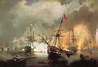 The Battle of Navarino, 1846, aivazovsky