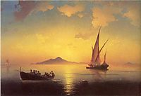 The Bay of Naples, 1841, aivazovsky