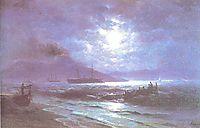 The Bay of Naples by Moonlight, 1892, aivazovsky