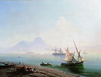 The Bay of Naples in the morning, 1877, aivazovsky