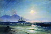 The Bay of Naples at night, 1895, aivazovsky