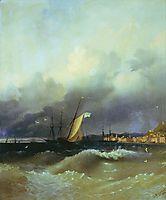 The Black Sea at night, aivazovsky