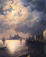 Byron in Venice, aivazovsky