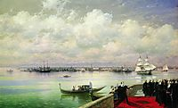 Byron visiting mhitarists on island of St. Lazarus in Venice, 1899, aivazovsky