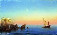 Calm sea. Rocky coast, 1860, aivazovsky