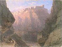 The Daryal canyon, 1855, aivazovsky