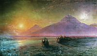 Dejection of Noah from mountain Ararat, 1870, aivazovsky