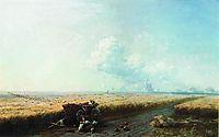 During the harvest in Ukraine, 1883, aivazovsky
