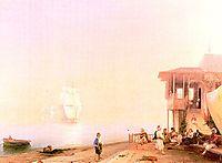 Embankment of oriental town, 1862, aivazovsky