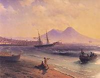 Fishermen Returning Near Naples, 1874, aivazovsky