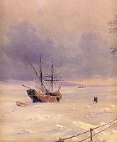 Frozen Bosphorus Under Snow, 1874, aivazovsky