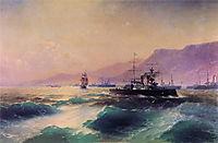 Gunboat off Crete, 1897, aivazovsky