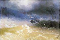 Hurricane on a sea, 1899, aivazovsky