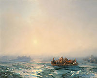 Ice in the Dnieper, 1872, aivazovsky
