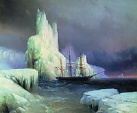 Icebergs in the Atlantic, 1870, aivazovsky