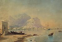 In harbour, 1842, aivazovsky