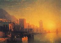 The Island of Rhodes   , 1861, aivazovsky
