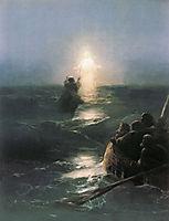 Jesus walks on water, 1888, aivazovsky