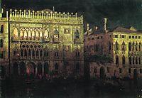 Ka d-Ordo Palace in Venice by moonlight, 1878, aivazovsky