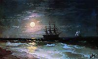Lunar night, 1870, aivazovsky