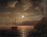 Lunar night on the Black sea, 1859, aivazovsky