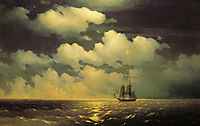 Meeting of the Brig Mercury with the Russian Squadron After the Defeat of Two Turkish Battleships, 1848, aivazovsky