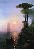 Misty morning in Italy, 1864, aivazovsky