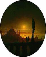 Moonlit night beside the sea, 1847, aivazovsky