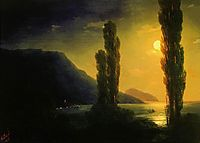 Moonlit night near Yalta, 1863, aivazovsky