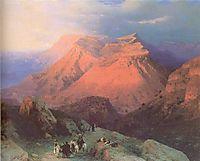 Mountain Village Gunib in Daghestan View from the East, 1869, aivazovsky