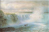 The Niagara waterfall, 1894, aivazovsky