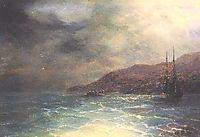 Nocturnal voyage, aivazovsky