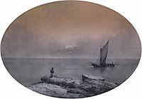 On the sea, aivazovsky